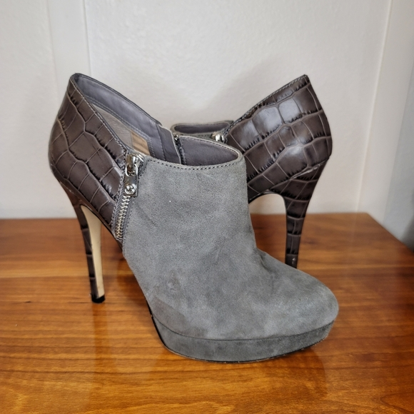 Michael Kors York Suede Leather Platform Bootie